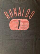 Nike Mens  X-Large Manchester United Ronaldo Tshirt Black Soccer World Cup XL