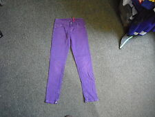 "Guess starlet slim jeans taille 24"" Jambe 27"" Délavé Violet 12Yrs jean fille"