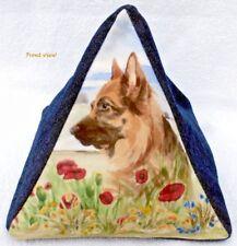 GERMAN SHEPHERD DOG NEW FABRIC COTTAGE DESIGN DOORSTOP SANDRA COEN ARTIST PRINT