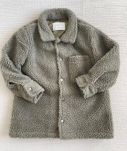 Zara Boys Green Fleece Shacket - Age 6 -Excellent Condition