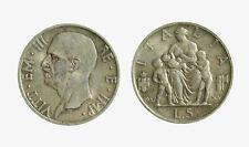 pci4826) Regno Vittorio Emanuele III (1900-1943) 5 Lire 1937 Fecondità