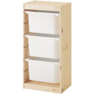 IKEA TROFAST Regal Regalrahmen Kiefer 44x30x91 mit Boxen weiß Aufbewahrung NEU