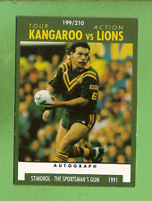 1991 RUGBY LEAGUE CARD #199 - KANGAROOS, CLIFF LYONS, MANLY SEA EAGLES