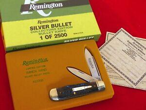 Remington USA 1999 bone R103 SB SILVER bullet Trapper 1/2500 knife MIB ld