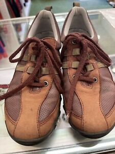 Ladies Hotter Trainers Size 3 Brown Leather