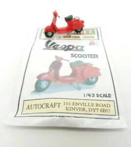 1/43 scale 7mm O gauge vintage 1960s Vespa classic Scooter metal kit