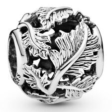 PANDORA Charm Element 798241 Leaves Bead Silber