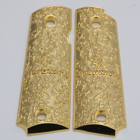 Custom Browning grips For Browning 1911-22 / 1911-380 Grips Metal Grips gold pla