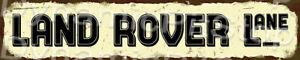 60x12cm Land Rover Lane Rustic Tin Street Sign, Man Cave, Garage, Bar, Vintage