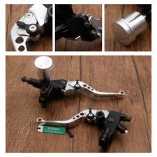 7/8'' 22mm Motorbike Cylinder Clutch Lever Silver Handlebar Hydraulic Brake UK