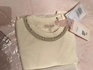 Giambattista Valli x H&M Sweatshirt Sweater Rhinestone Cream XS