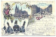 L 10 - Litho, Gruss aus Köln, Mehrbild, 1896 gl.