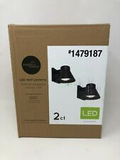 Project Source 2-Pack 4.76-in H Black Dark Sky LED Outdoor Wall Lanterns