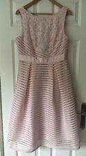 Debenhams Debut Pink 'Bridgette' Lace Detail Prom Dress - Size 14 - BNWT £120