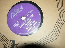 """Vintage 78 Record """" The Sand and the Sea """" Darling Je Vous """" Nat King Cole"""