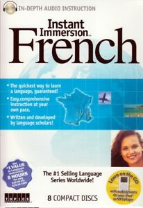 Instant Immersion FRENCH Language (8 Audio CDs) listen & learn in your car