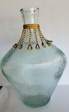 "Decorative Glass Bottle 11"" H"