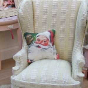Miniature Dolls House Accessories Christmas Santa Cushions 1:12th scale size