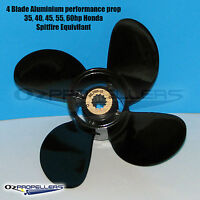 10 1/8 15 For HONDA 4 Blade Propeller Aluminium 35-40-50-60HP Performance Prop