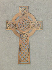 "Celtic 15"" Wood Custom Cross Wall Hanging"
