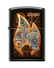 Zippo 5470 Steampunk Flame Black Matte Finish Full Size Lighter