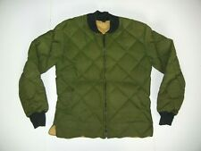 Vtg 80s CRESCENT DOWN WORKS Seattle Green WINTER JACKET Quilted Coat Sz Men L