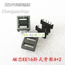 5set EE16 4+2pins Ferrite Cores bobbin,transformer core,inductor coil #Q1702 ZX