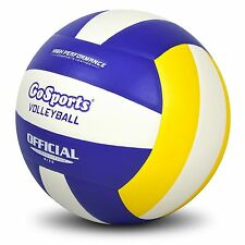 GoSports Indoor Competition Volleyball - Regulation Size/Weight - with Ball Pump
