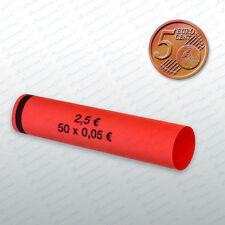 Münzhülsen  5 Cent  98 Stück Münzrollen Münzen
