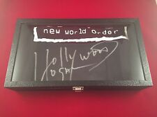 Hollywood Hulk Hogan Autographed NWO T Shirt In Display Case TriStar Certified
