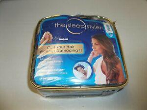 "The Sleep Styler Mini Absorbent Heat Free Rollers 12-3"" Rollers Short Fine Hair"
