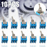 10pcs MTS-202 6-pin DPDT ON-ON 6A 125V AC Mini Blue Toggle Switch 2 Positions