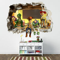 TOY STORY SMASHED WALL STICKER - BEDROOM BOYS DISNEY VINYL WALL ART