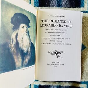 Romance Of Leonardo Da Vinci Dmitry Merezhkovsky Heritage Press 1938 HC/SC