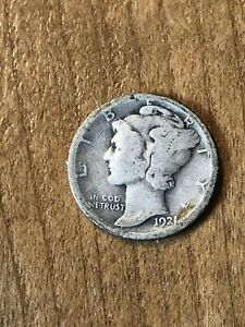 1921D Mercury Dime G+