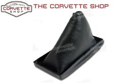 Corvette Shift Boot Black Leather C3 1977-1981 with Screws x2547