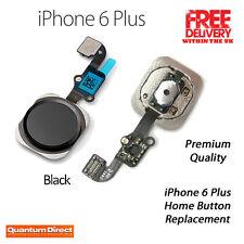 iPhone 6 Plus Domicile Bouton Complet Rechange Câble Flexible Réparation - NOIR