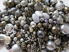 1000 x METAL BEADS MIX MULTI-COLOUR SELECTION CRAFTS JEWELLERY MAKING BEADING