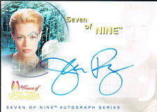 STAR TREK WOMEN OF VOYAGER AUTO CARD SA1 JERI RYAN AS SEVEN OF NINE