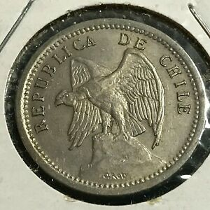 1939 CHILE 20 CENTAVOS HIGH GRADE COPPER NICKEL COIN
