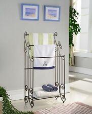 InRoom Designs 1419 Kings Brand Furniture Metal Free Towel Rack Stand with