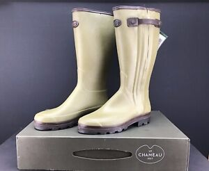 Le Chameau Chasseur Prestige Vert Green Neoprene Lined Boots UK 12.5 EURO 48