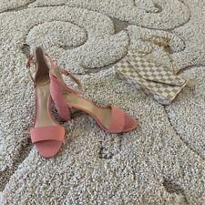 c84cc82a9a NIB Vince Camuto Corlina Fancy Flamingo Womens Coral Heels Sandals Shoes 7.5