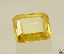7.10CT Yellow Sapphire Lab Created Cushion Shaped Excellent Quality Gemstone LS4