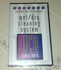 VHS Player Head Cleaning System NEW for VCR Wet/Dry Brand New Factory Sealed
