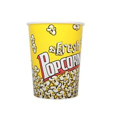 Yellow Theatre Style Paper Popcorn Tubs