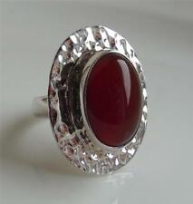 TAXCO TRADITIONS MEXICO CARNELIAN GEMSTONE STERLING SILVER RING UK- K NEW QVC