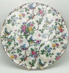 "Royal Tudor Ware Barker Bros Bird Chintz Cake Plate 11""  Plate No2"