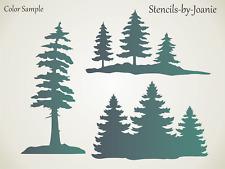 Joanie Stencil Lodge Pine Trees Template Reusable 7 mil Cabin Decor DIY Art Sign