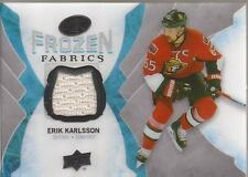ERIK KARLSSON 2016-17 Upper Deck Ice Frozen Fabrics Jersey Ottawa Senators